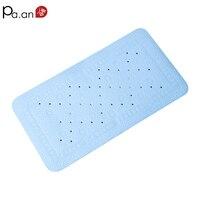 Simple Blue PVC Bath Mats 36x69cm Waterproof Non Slip Plastic Mat 250g Home Hotel Bathroom Products