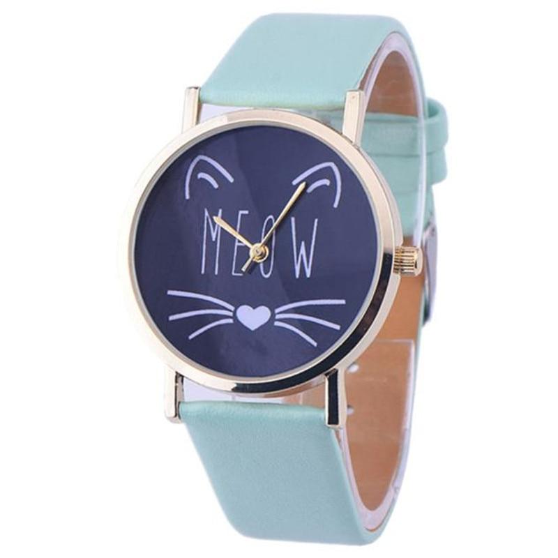 Erkek kol saa 2016 Fashion Wanita Kasual Perhiasan Cat Pola jam - Jam tangan wanita - Foto 5