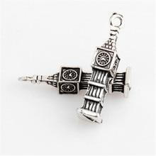 20pcs metal charm Big Ben Pagoda Tibetan silver pendant jewelry found