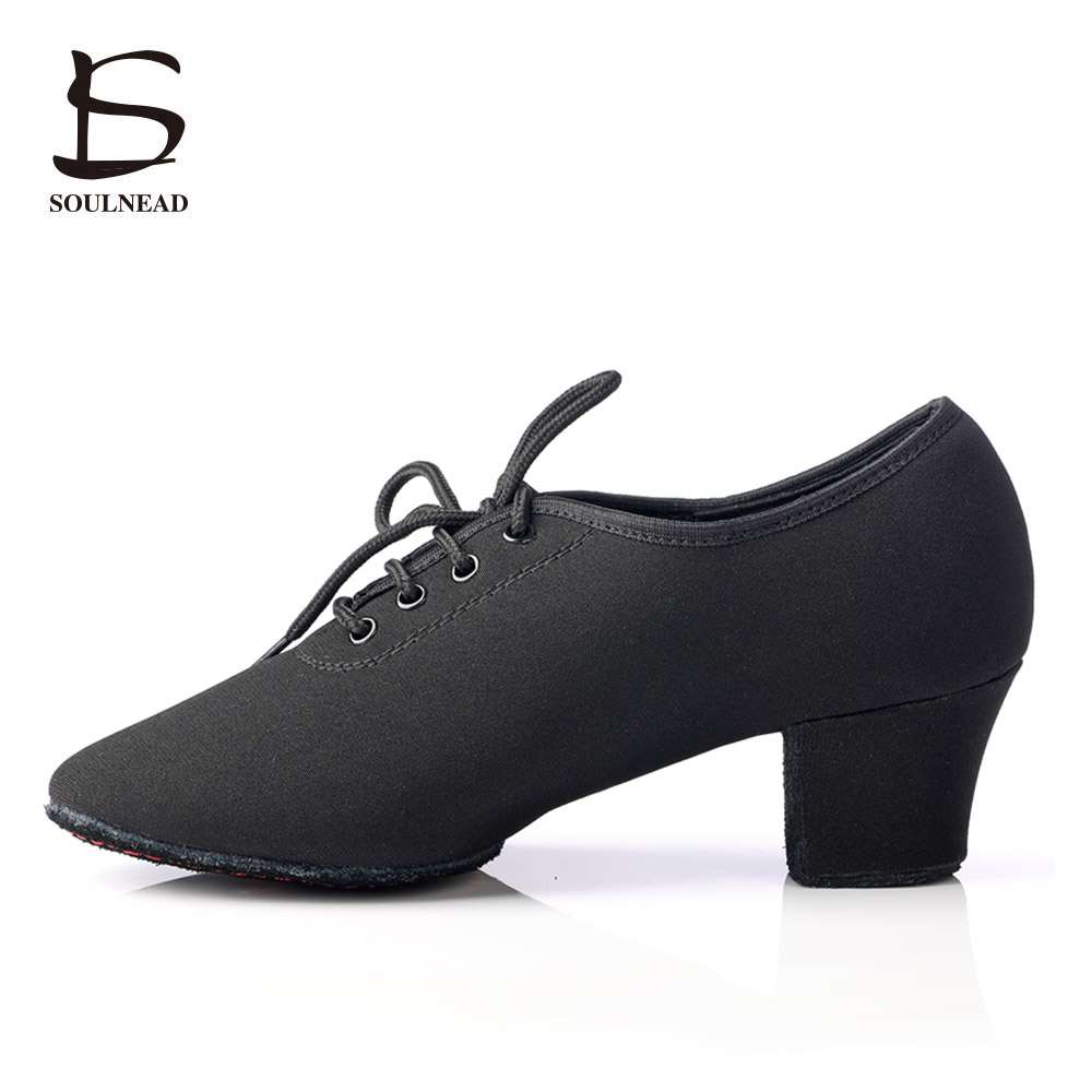 2017 New Ladies Latin Dance Shoes Black Ballroom Tango Salsa Dancing Shoes For Women Modern Shoes Danca Sapatos Para Mulheres