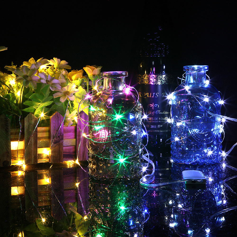 Battery Operated LED Fairy Lights 1m 2m 3m Waterproof LED String Lights Xmas Garland Christmas Wedding Party Decoration