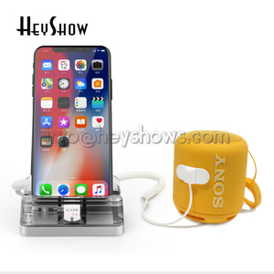Image 5 - 6 個の携帯電話のセキュリティスタンドアクリル携帯電話盗難防止デバイスホルダーブルースマートフォン表示警報システムアップル店