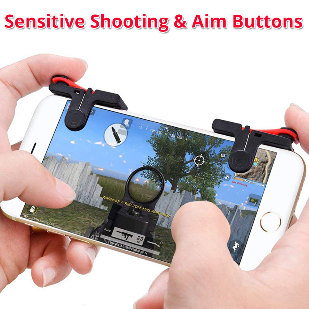 sensitive phone grip shooting and aim buttons