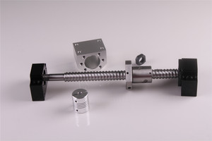Image 4 - SFU1605 ชุด RM1605 รีดสกรูบอล C7 ด้วยปลายกลึง + 1605 NUT & NUT HOUSING BK/BF12 end สนับสนุน + 8mm x 10mm Coupler
