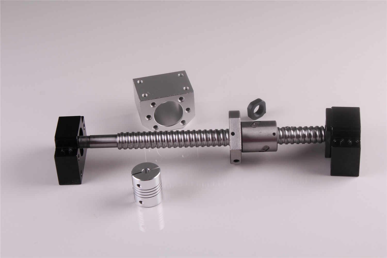 SFU1605 Set RM1605 laminati a ricircolo di sfere C7 Con Fine Lavorazione + 1605 Palla Dado & Nut housing BK/BF12 fine Supporto + 8mm x 10mm Accoppiatore