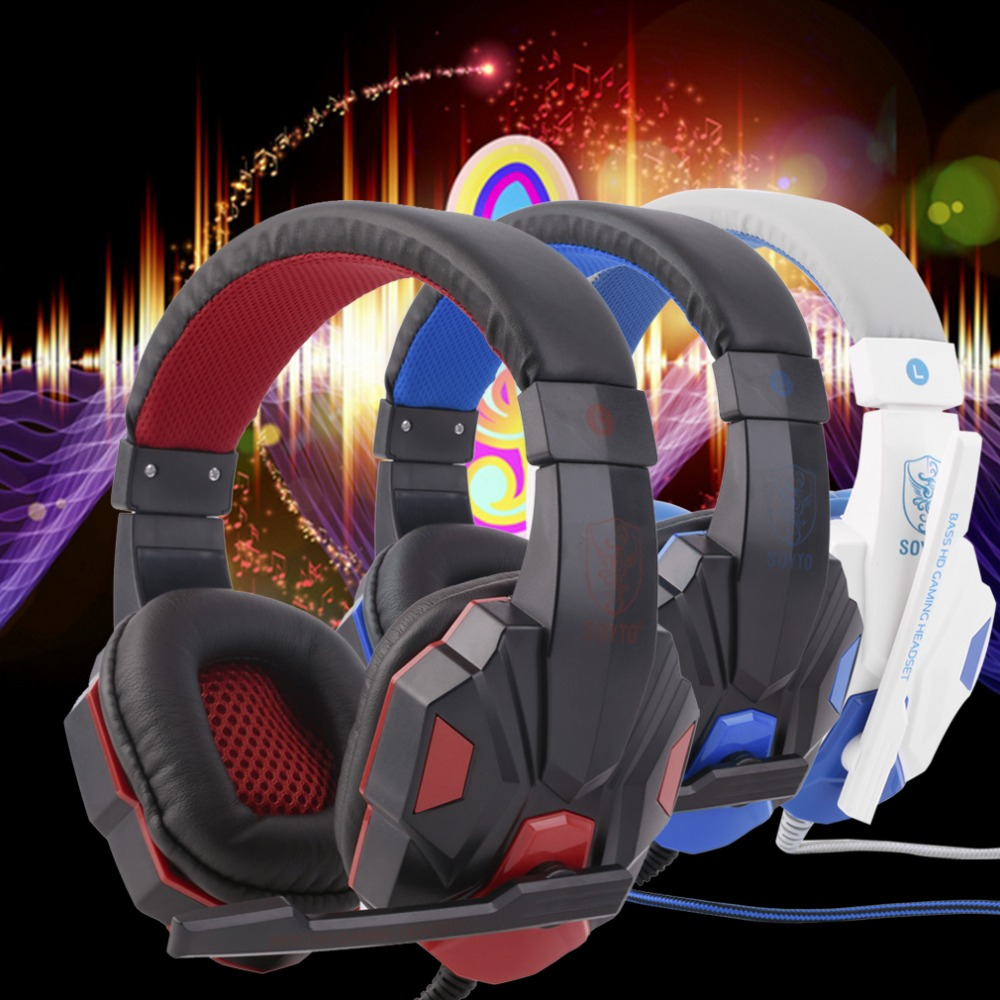 SY830MV Gaming Headphone 3.5mm Surround Stereo Headset Headband Headphone with Mic for PC Laptop Low Bass Wired Headset each g1100 shake e sports gaming mic led light headset headphone casque with 7 1 heavy bass surround sound for pc gamer