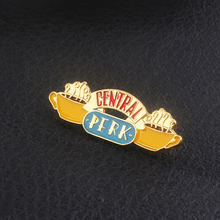 American TV show Friends Badge Brooch Central Perk Coffee Time Pendant Enamel Pins Brooches Women Men Lapel pin Jewelry Gift(China)