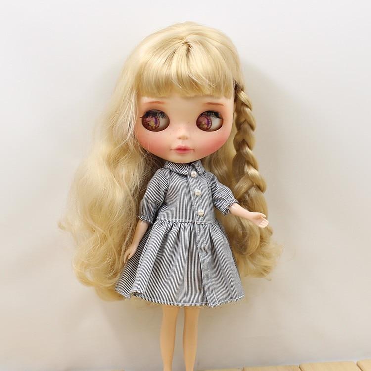 Neo Blythe Doll Grey Dress 3