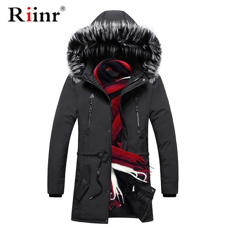 Riinr Winter Men Thick   Parka   Coat 2019 Men's Casual Hooded   Parkas   Jacket Outerwear Male Fashion Warm   Parkas   Overcoat Long