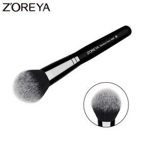 ZOREYA Brand Flawless Face Brush Super High Quality Fiber Hair Black Wooden Handle Powder Blush Bronzer Brushes For Ladies(China)