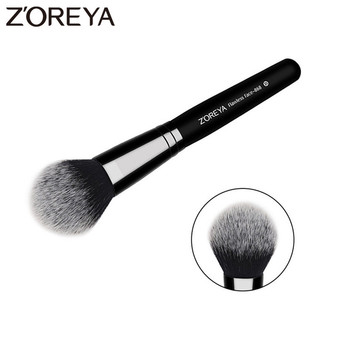 ZOREYA Brand Flawless Face Brush Super High Quality Fiber Hair Black Wooden Handle Powder Blush Bronzer Brushes For Ladies