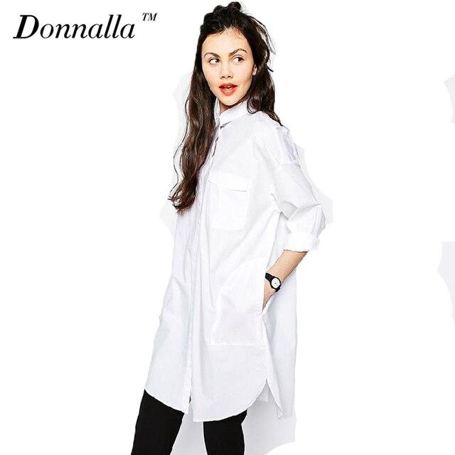 Chemise blanche Robe Femmes Boyfriend Style Robes À Manches Longues Lâche  Occasionnel Robes Pour Femmes Sexy 93b2c26c906d