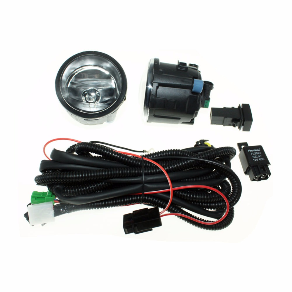 For NISSAN NOTE E11 MPV 2006-2015 H11 Wiring Harness Sockets Wire Connector Switch + 2 Fog Lights DRL Front Bumper Halogen Lamp for nissan note e11 mpv 2006 2015 h11 wiring harness sockets wire connector switch 2 fog lights drl front bumper led lamp