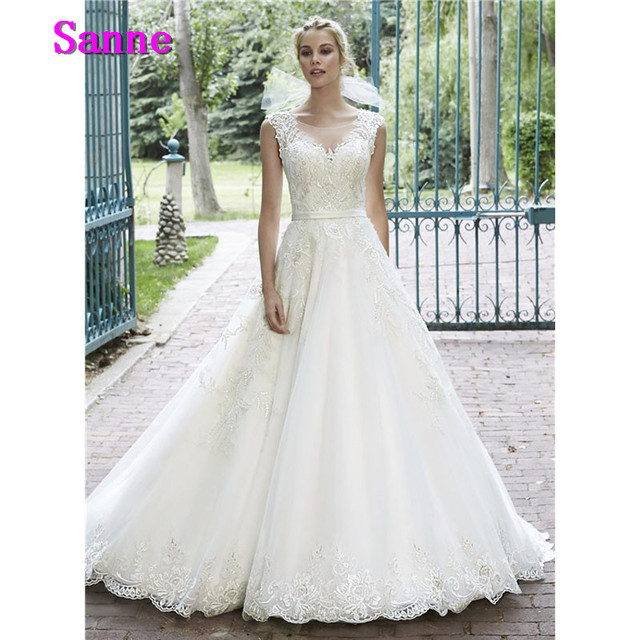 Vintage Designer Wedding Gowns Cap Sleeve Luxury Wedding Dresses ...