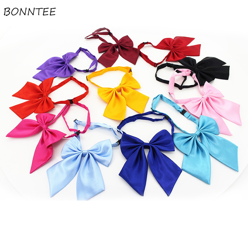 Ties Women Unisex Striped Solid Kawaii Bow Tie Harajuku Ulzzang  Womens Korean Style All-match Trendy Simple Students School