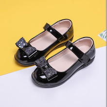 School Black Leather Shoes Kids Girls Bow Princess Dancing Shoes Childrens Student Leather Shoes For Girls 4 5 6 7 8-15T black childrens leather shoes kids girls princess dancing shoes school student black leather shoes for girls 4 5 6 7 8 9 10 15t