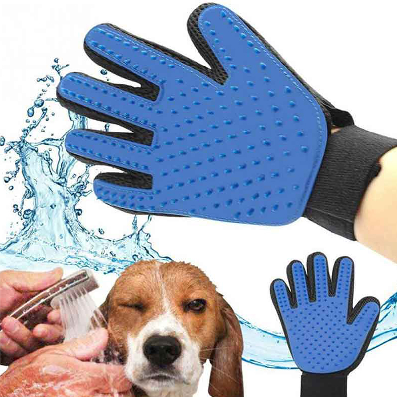 New Dog Cat Hair Brush Glove Grooming Comb Supply Finger Cleaning For Pet Cleaning Massage Pet Cats Hair Brush Glove For Animal cat and dog pet cleaning massage gloves brush