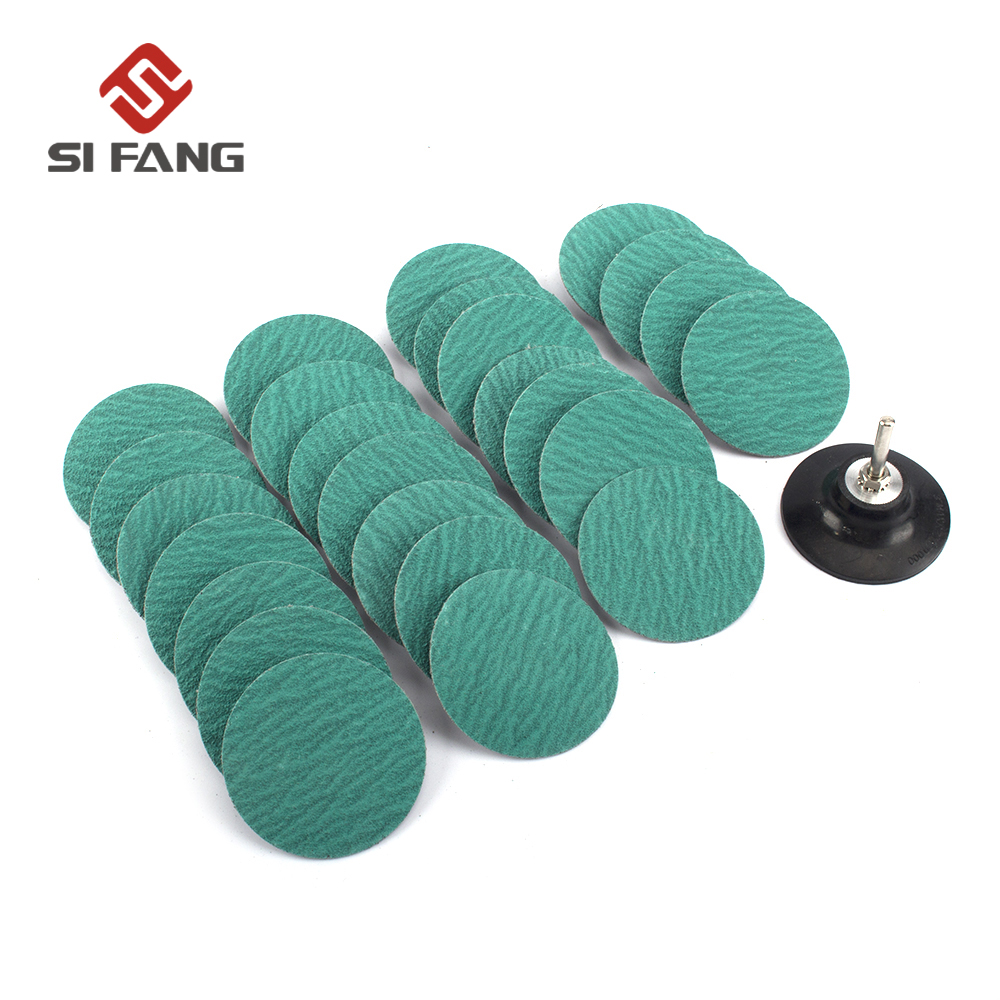 2inch 60/80/120Grit Roll Lock Sanding Discs Zirconia Roloc Polishing Pad Sanding Paper 5-20Pcs