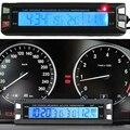 3 en 1 Multifunción Termómetro Del Reloj Del Coche Voltímetro Electrónico Blud LED Digital de Temperatura Automático Del Panel Monitor de Voltaje de La Batería