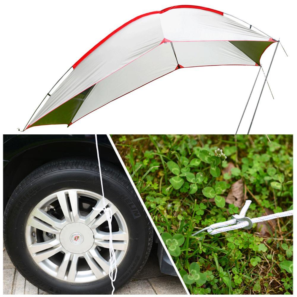 Outdoor Draagbare Camper Staart Rekening Tent Self Driving Tour Barbecue Multi Persoon Regen Vizier Tuinhuisje Strand Luifel Tent brand New - 5