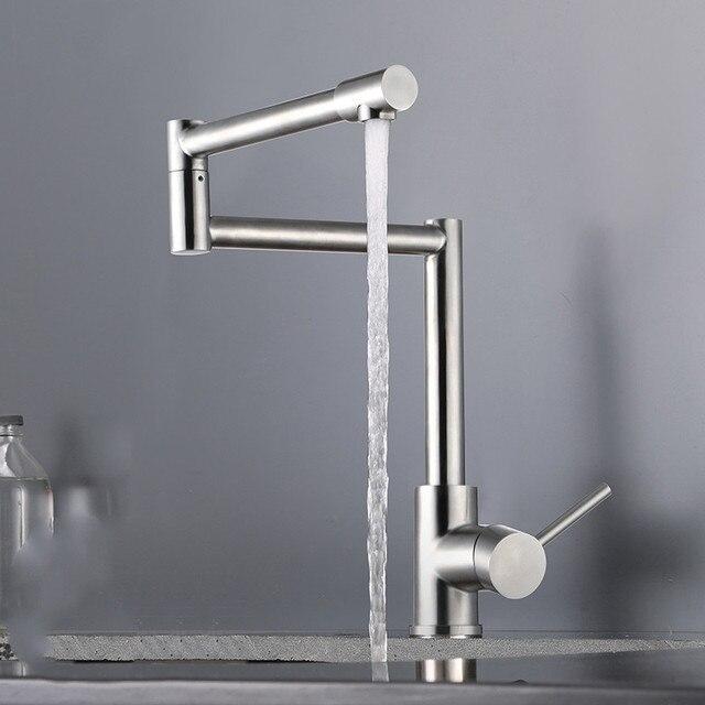Falten Küche Wasserhahn Heißen und Kalten Mischbatterie, SUS04 ...