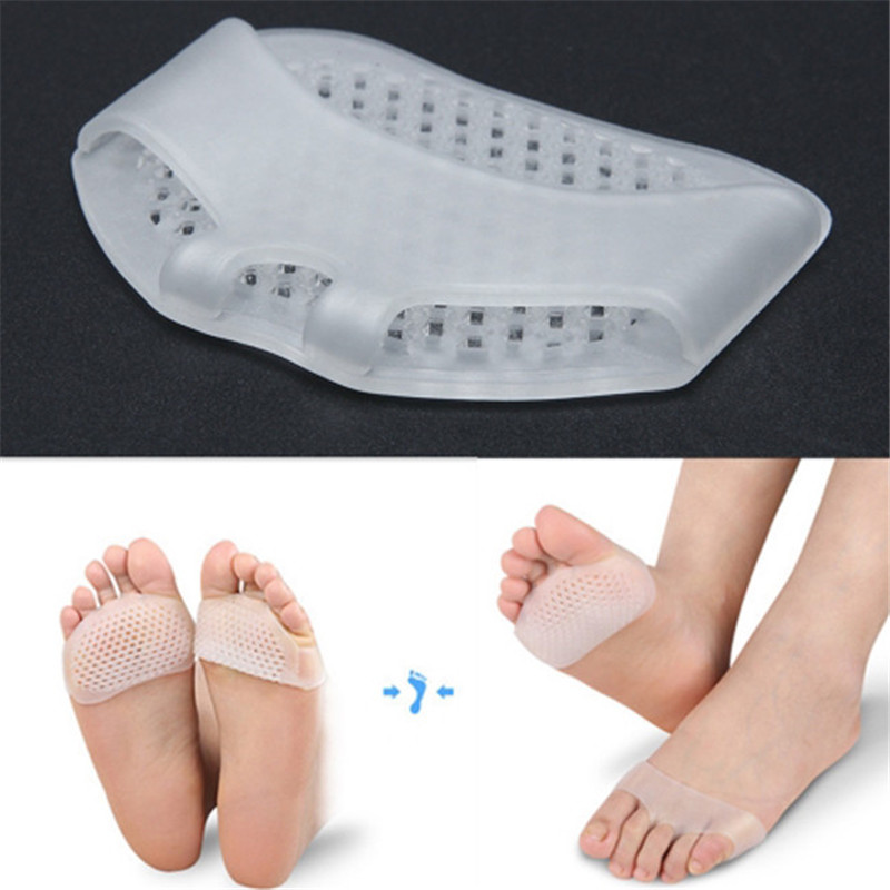 2 Pairs Silicone Forefoot Cushion Half Insoles Anti-Slip High Heel Shoe Pads USA