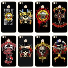 Fashion Guns n roses Cover Soft Silicone TPU Phone Case For redmi4A 4X 5 5a 5Plus note4 4X 5 for xiaomi4 5 5X 6X 8 note3 miX2S(China)