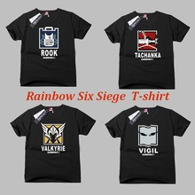 Game Rainbow Six Siege A T-shirt with short sleeves half sleeve cotton round collar men and women in the summer E-sports games(China)