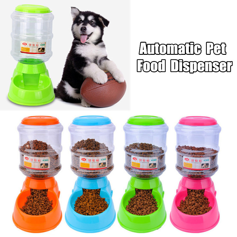 NO 3.5L Large Automatic Pet Feeder Food Drinking Fountain for Cats Dogs Environmental Plastic 4 Colors Fountain Hight Quality image