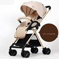 Alta calidad del cochecito de bebé plegable portátil fácil bebé carro de alta paisaje carrito de bebé a prueba de golpes
