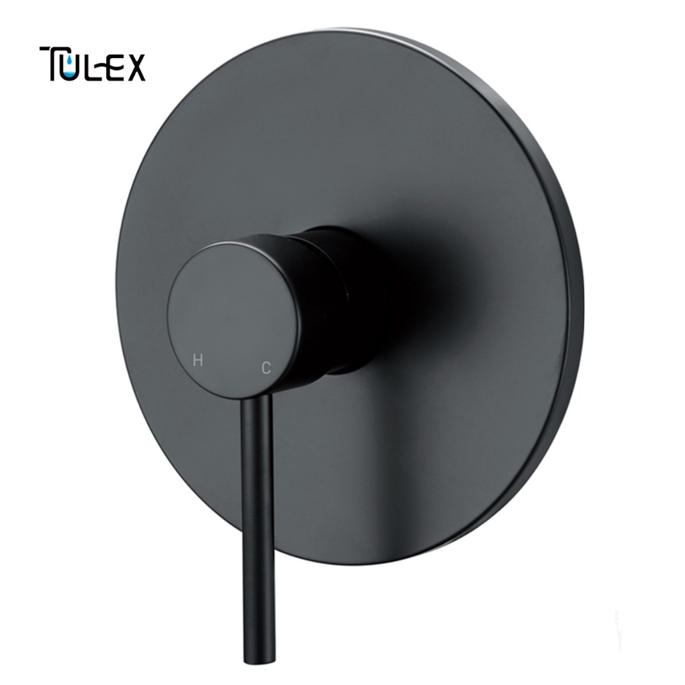 TULEX Concealed Shower Mixer Wall Mounted Valve Hot & Cold Water shower Diverter Shower Faucet Brass Shower Mixer for Bathroom new hot sale wall mounted square shower mixer faucet control valve diverter 3 ways shower valve