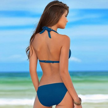 Hot Sale Bikinis Set 2020 Swimsuit Women Bandage Beachwear Bathing Suits Biquini Swim Wear Swimwear Brazilian Bikini Sexy Top 4