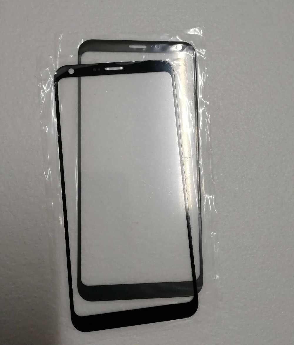 LG001 1 قطعة ل LG Q6 المحمول الهاتف lcd شاشة خارجية غطاء اللمس شاشة الجبهة غطاء لعدسات النظارة لوحة استبدال مع أداة