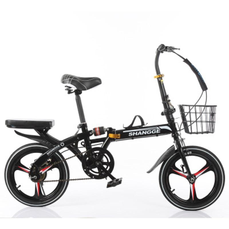 Folding Bike 20-Inch Three-Knife Speed Change Disc Brake Men And Women Ultra-Light Student Portable Bicycle