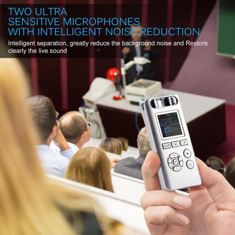 Digital Voice Recorder Farbe Bildschirm 8 Gb Mp3 Musik Player Intelligente Lärm Reduktion Lanpice Digitale Aufnahme Pen Recorder Mit Tft