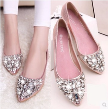 Womens Shoes Single  Flat-soled Flat-heeled Casual New Trendy Drill tong femme Spring and Autumn of 2019