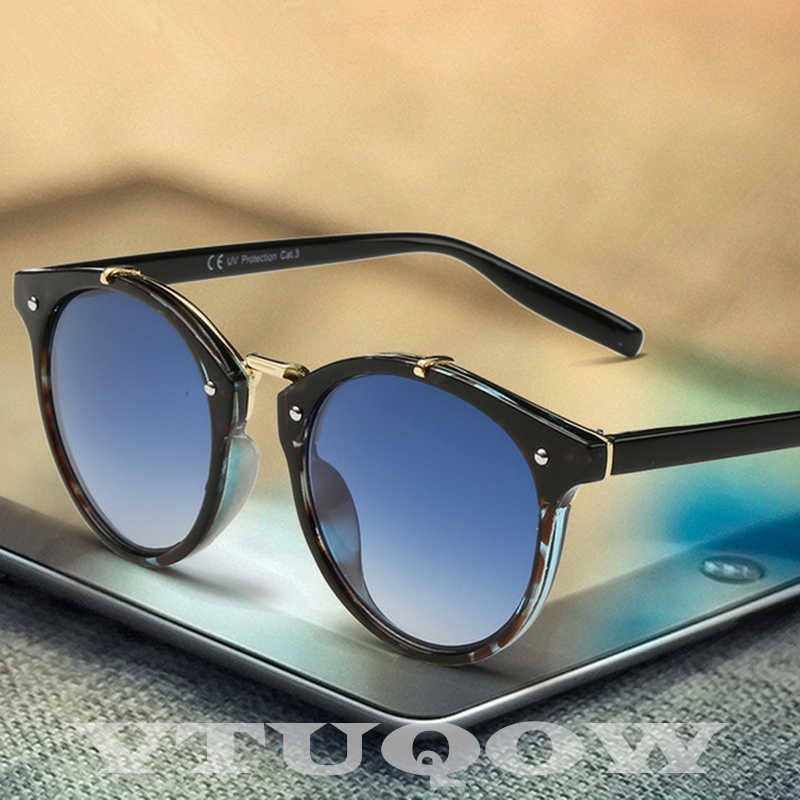 Classic Cat Eye Sunglasses Men Women Brand Designer 2020 Retro Vintage Round Sunglass Male Sun Glasses For Mens UV400 ray bann