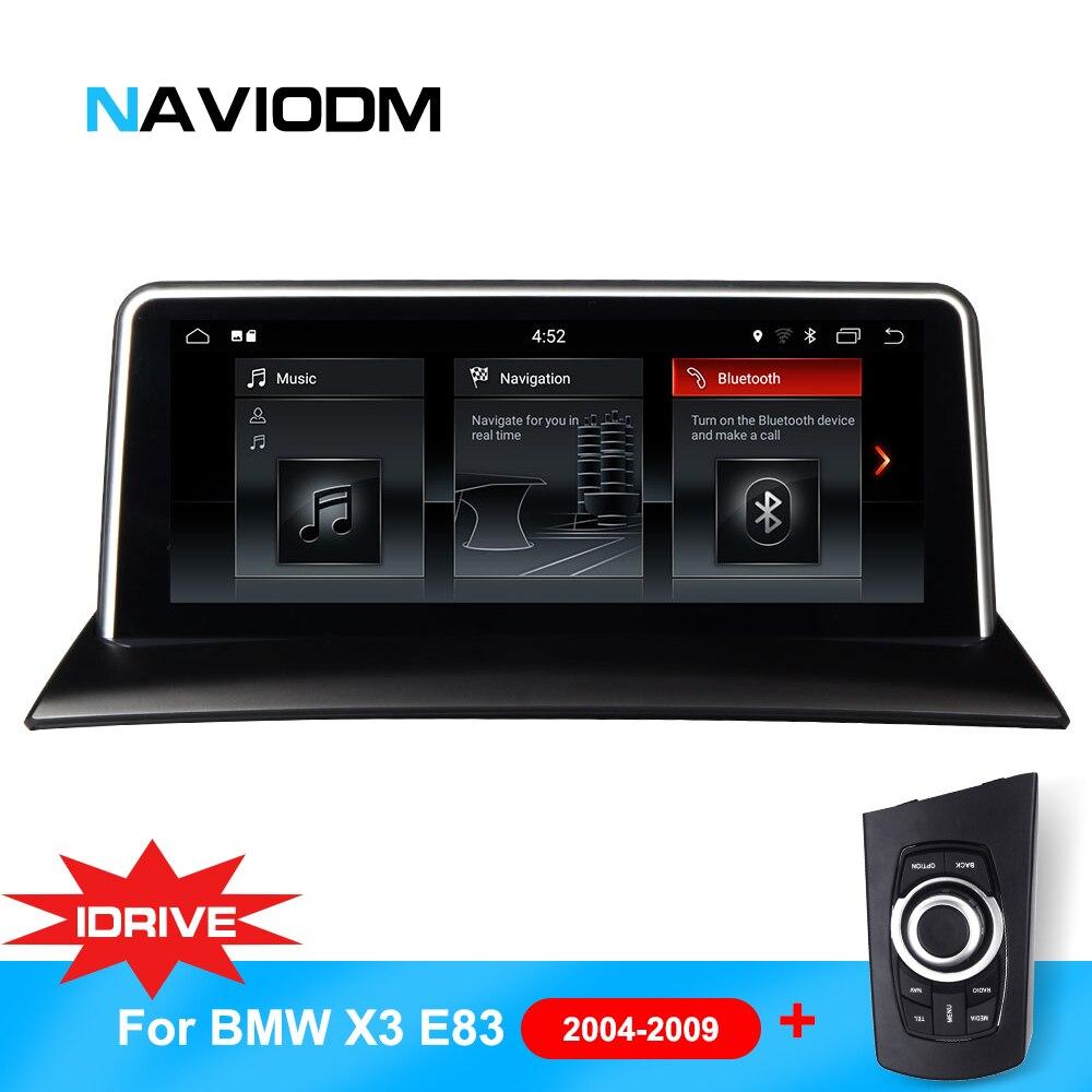 10.25 pouces Android 7.1 lecteur de Navigation de voiture DVD système intelligent pour BMW X3 E83 (2004-2009) avec iDrive voiture Audio GPS