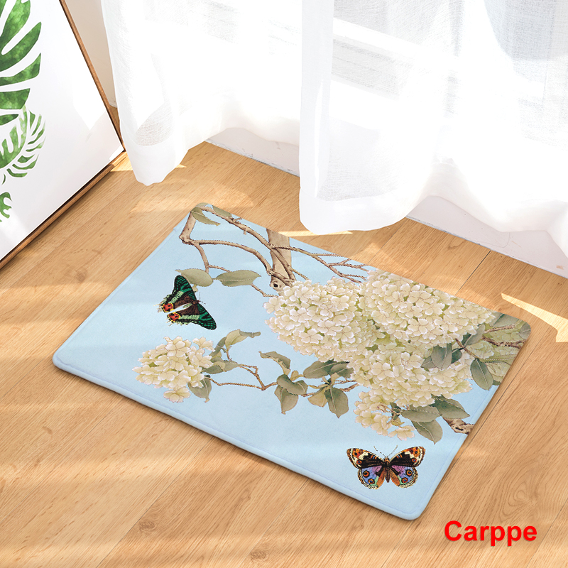 2017 new home decor flower butterfly carpets non slip kitchen rugs for home living room floor - Rugs and home decor decor ...