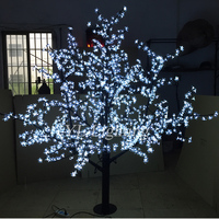 christmas led lights decoration artificial holiday tree white cherry blossom outdoor xmas new year wedding party decorative CE
