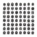 50pcs/lot Silver DIY Hollow Out pandora Charms Beads for Jewelry Making Up Bracelet Material Zinc Alloy Antique Bead Big Hole