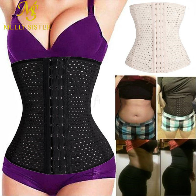 f42f7118a5 Black Beige Fitness Fat Burning Girdle Belt Sexy Women Body Waist Trainer  Shapers Underbust Belt Corset Faja Reductora Shapewear