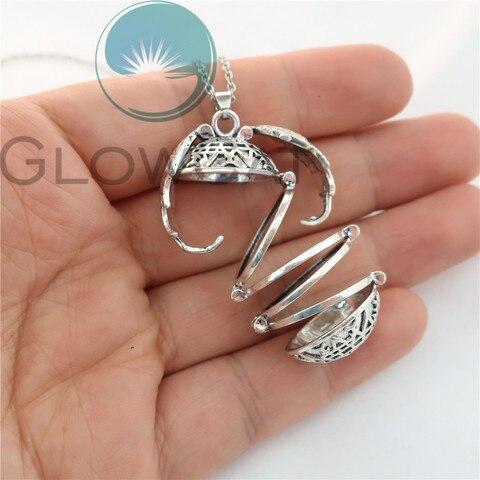 Magic 4 Photo Pendant Memory Floating Locket Necklace Angel Wings Flash Box Fashion Album Box Necklaces Islamabad