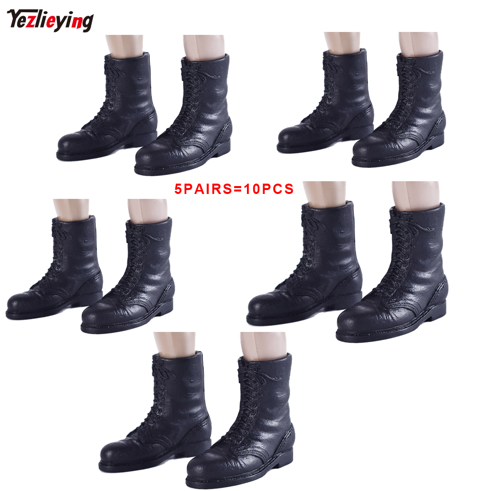 TopToys 1/6 Scale Military WWII Combat Paratrooper Boots Shoes Dragon Soldier Black Clothing accessories Model DIY Fit 12Figure 2pcs 1 6 scale dragon dml toys wwii gray soldier forward hat cap model toy dolls military fit 12 inch action figure accessories