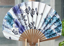 Beautiful Chinese Folding Floral Bamboo Wood Hand Fan Wedding Decor(China)