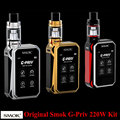 Original Smok G-Priv 220W Touch Screen Box Mod Vape  5ML TFV8 Big Baby Tank Atomizer Vaprozier 18650 battery Mod Box