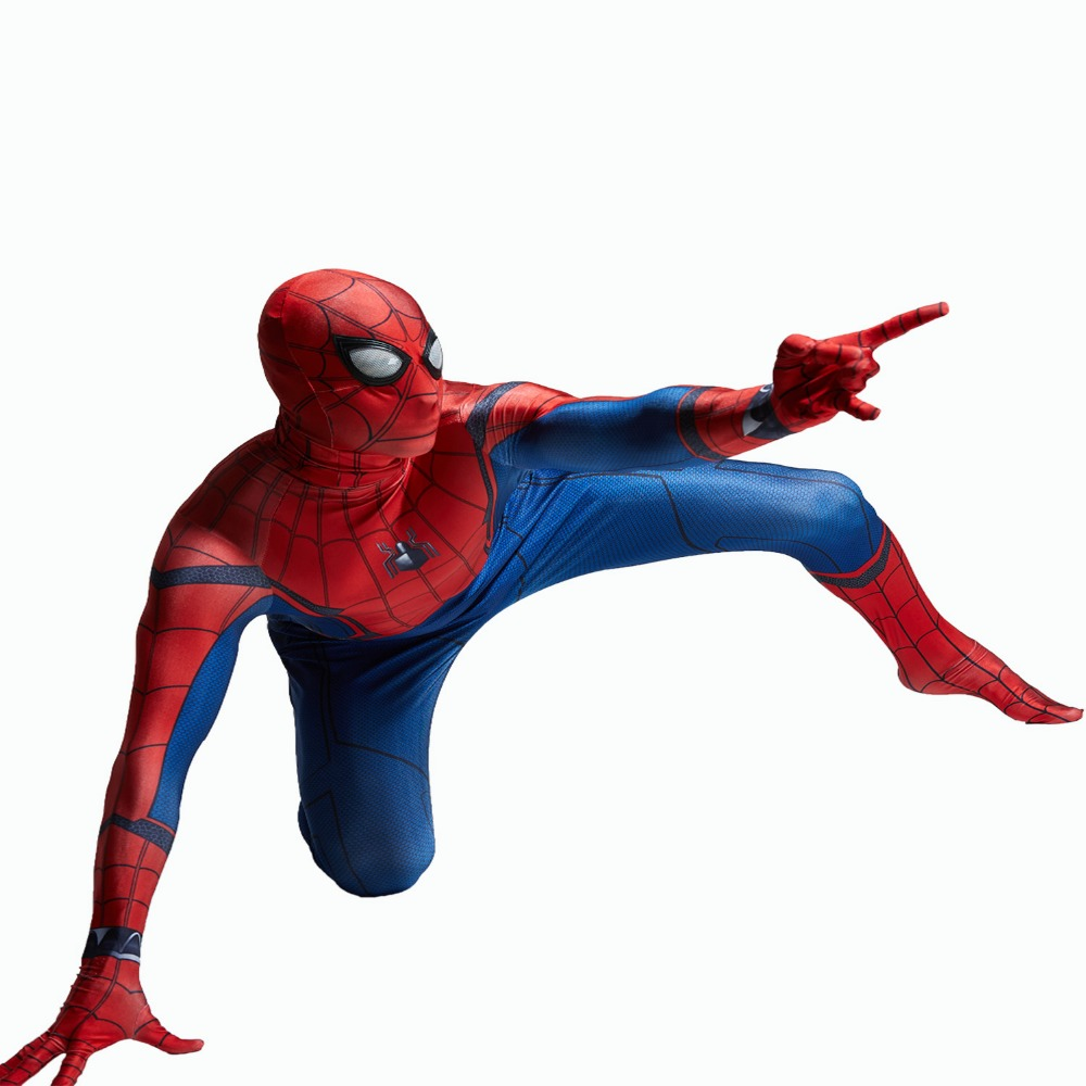 Free shipping Spider-Man Homecoming Costume suit Zentai Suit Cool Costumes Men Halloween Full Body Spiderman Jumpsuit