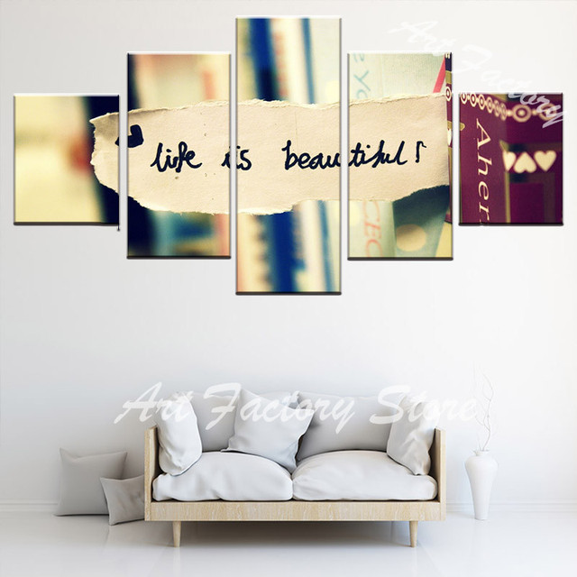 5 Piece Canvas paintings HD Prints Painting bedroom Wall Art Home ...