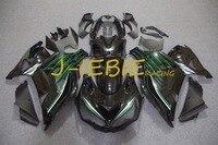 Czarny zielony Wtrysku Fairing Nadwozie Zestaw Ramka dla Kawasaki NINJA ZX14 ZX14R ZX 14 R 2012 2013 2014