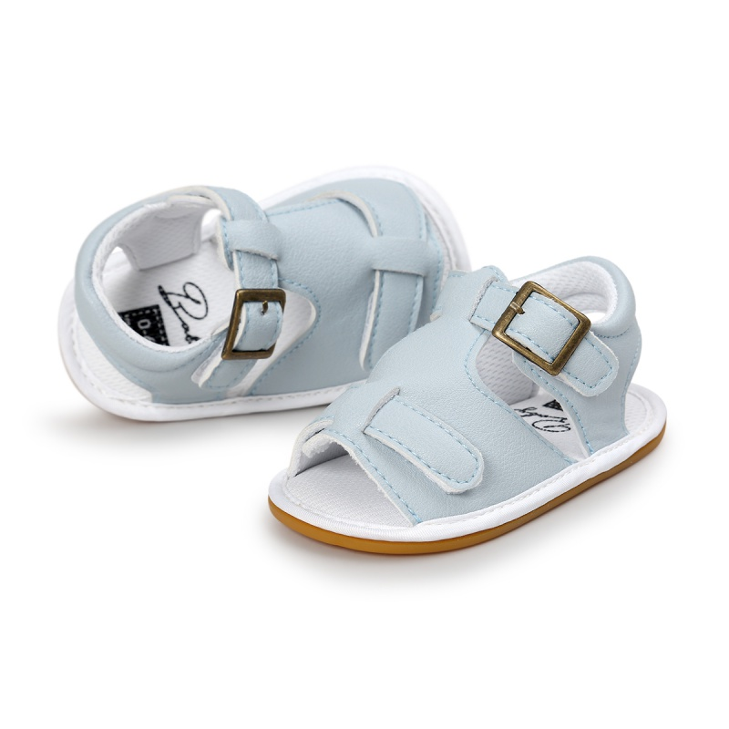 Baby Boys Girls Sandals Toddler Slip-On Shoes Summer Shoes Baby PU Leather Sandals 0-18M